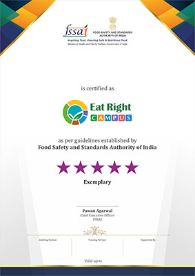 Eat right campus certificate